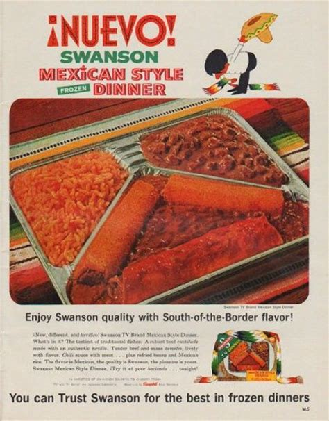 swanson frozen dinner dinners ad mexican 1963 ads strange nuevo 1970s meals beans international magazine tray unhealthy eat them want