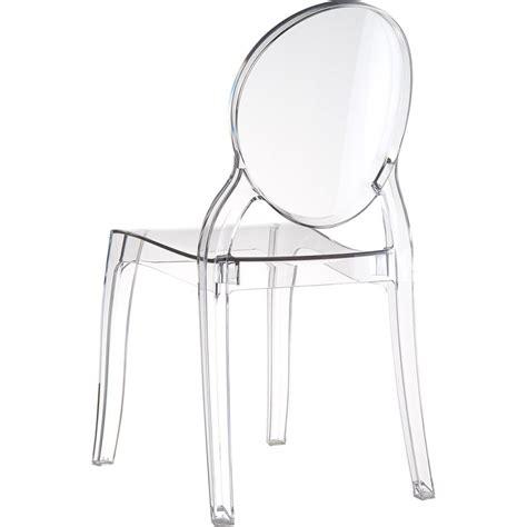 chaise elizabeth chaise elizabeth transparente médaillon en polycarbonate