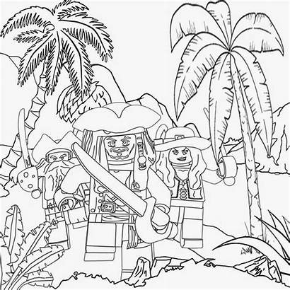 Lego Coloring Pages Drawing Pirates Printable Minifigures