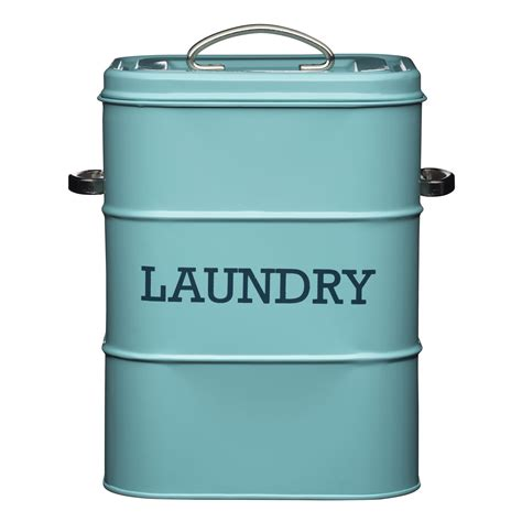 retro kitchen storage containers living nostalgia vintage blue laundry tin storage 4818