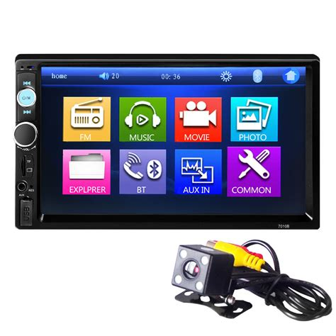 bluetooth  car audio stereo touch screen mp player  camera ebay
