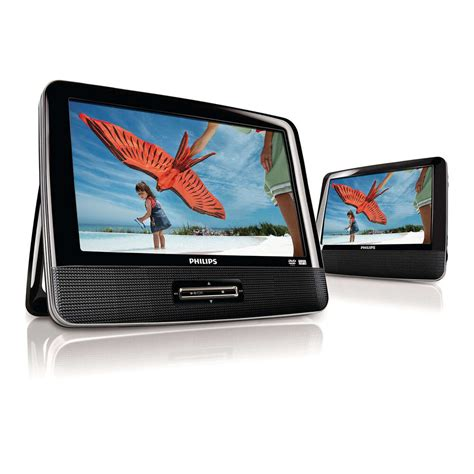 dvd player auto test 9 quot philips widescreen portable black travel car dvd player