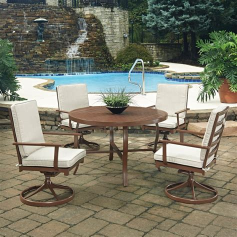 key west 5 pc outdoor dining table 4 swivel