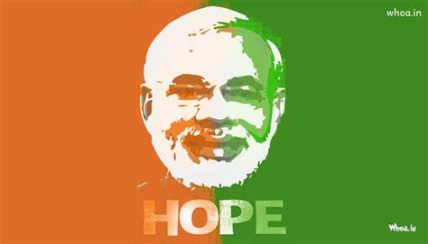 narendra modi hope tricolor paper painting hd wallpaper