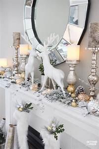 Glam, Gold, And, White, Christmas, Home, Tour, U0026, 30, Holiday, Homes