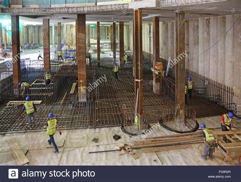 Construction Of A Reinforced Concrete Basement Floor Slab