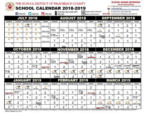 palm beach county school calendar calendars
