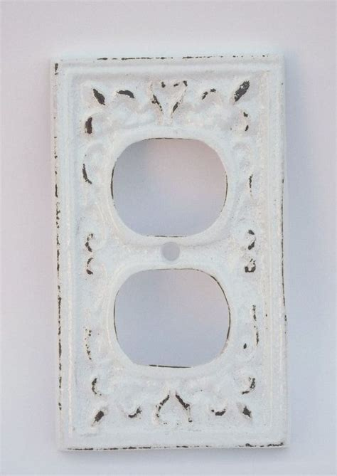 shabby chic outlet outlet cover cast iron snow white electrical outlet cover shabby chic french inspired