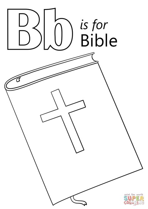 bible coloring page letter b is for bible coloring page free printable