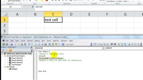 excel vba tips  tricks   excel select specific cell