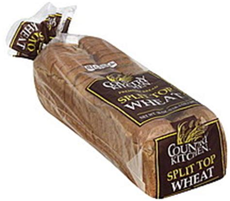 country kitchen nutrition country kitchen bread premium split top wheat 20 0 oz 2848