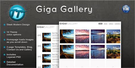 Giga Gallery Html Template By Gothemeteam Themeforest