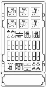2006 Ford E250 Fuse Panel Diagram