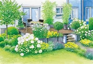 Kleiner Zaun Für Beet : gestaltungsideen f r eine terrasse sommerflair und modern mein sch ner garten ~ Sanjose-hotels-ca.com Haus und Dekorationen