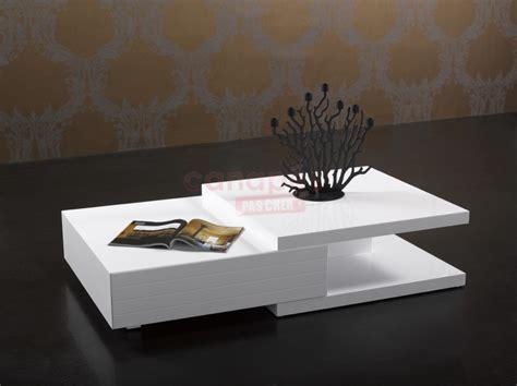 desserte bureau table basse blanche pas cher