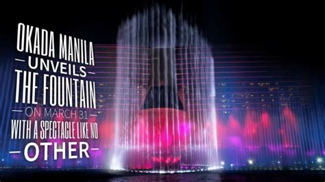 okada manila unveils the fountain on march 31 with a