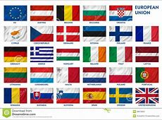 European Union flags stock illustration Image of