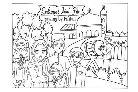 mewarnai ramadhan dan idul fitri