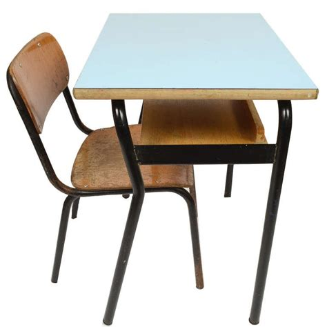 small school desk and chair italy 1950s for