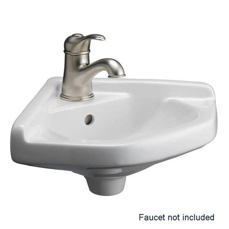 wall mounted basin sink barclay products corner wall mounted bathroom sink in