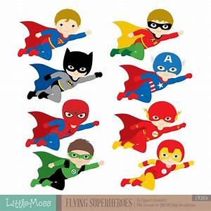 Flying, Superhero, Clipart, Superheroes, Kids, Clipart