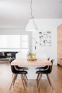 Kitchen Island With Table Attached Decoration Effect And