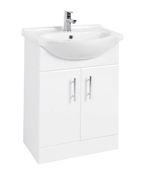 beo mm double door vanity unit  basin high gloss white