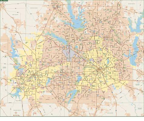 Dallas & Fort Worth Metro Map | Digital| Creative Force