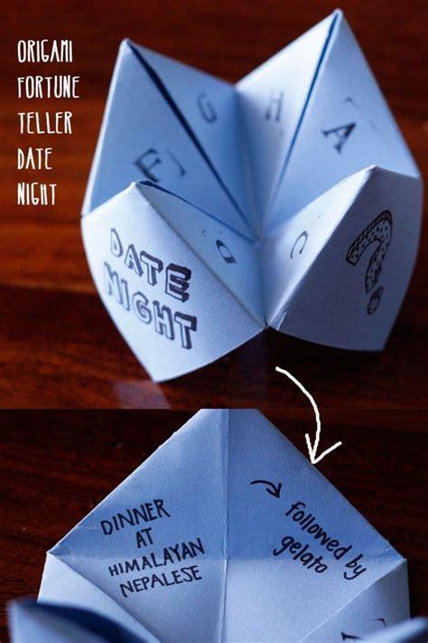 origami fortune teller date gift idea diy