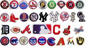 MLB, Major League Baseball Team logo patches. Embroidered ...