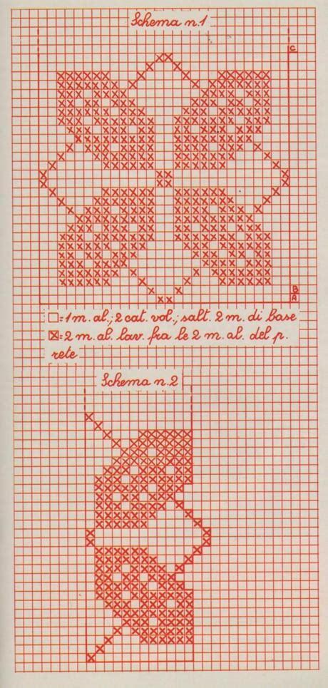 Copriletto Filet Schemi by Schemi Per Il Filet Copriletto A Strisce Con Quadrifogli