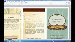how to make brochure on microsoft word 2010 youtube With microsoft word 2010 brochure templates