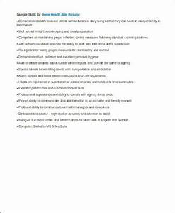 Health Aide Resume Free 7 Sample Home Health Aide Resume Templates In Ms