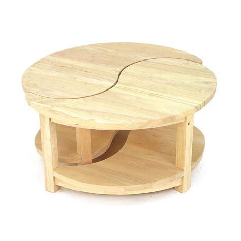 table ronde bois avec rallonge table basse ronde 2 éléments jorg 5382