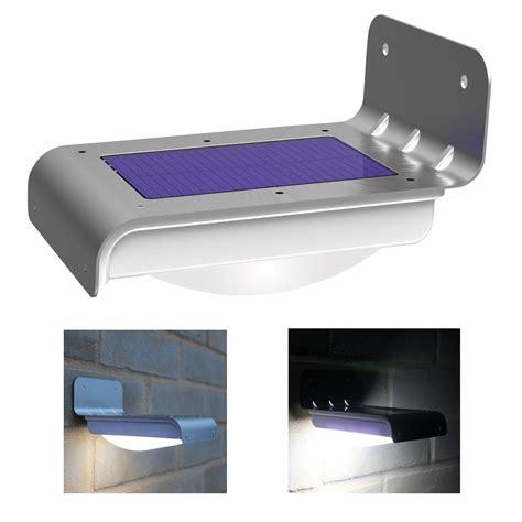 16 led waterproof wall motion sensor solar powered garden