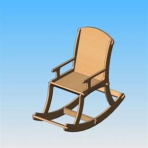 Siege A Bascule : plan 3d gratuit chaise bascule cults ~ Teatrodelosmanantiales.com Idées de Décoration