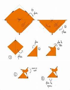 Origami Animaux Facile Gratuit : tuto r aliser un renard origami par mini reyve ~ Dode.kayakingforconservation.com Idées de Décoration