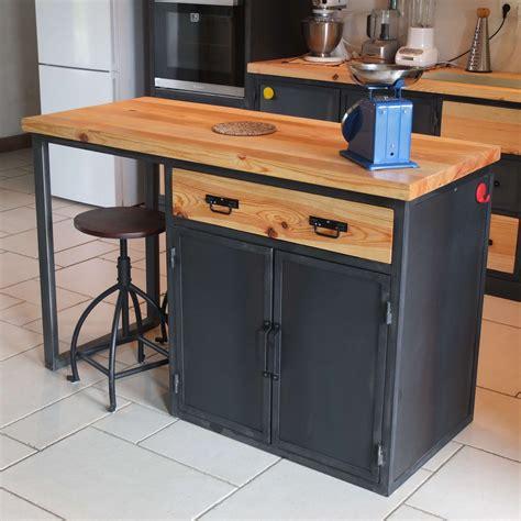 meuble ilot cuisine ilot cuisine bois massif ilot central en bois massif with