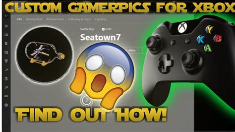How To Get Custom Gamerpics Xbox Only Youtube