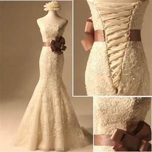 ivory lace wedding dress stock champagne white ivory With ivory and bronze wedding dresses
