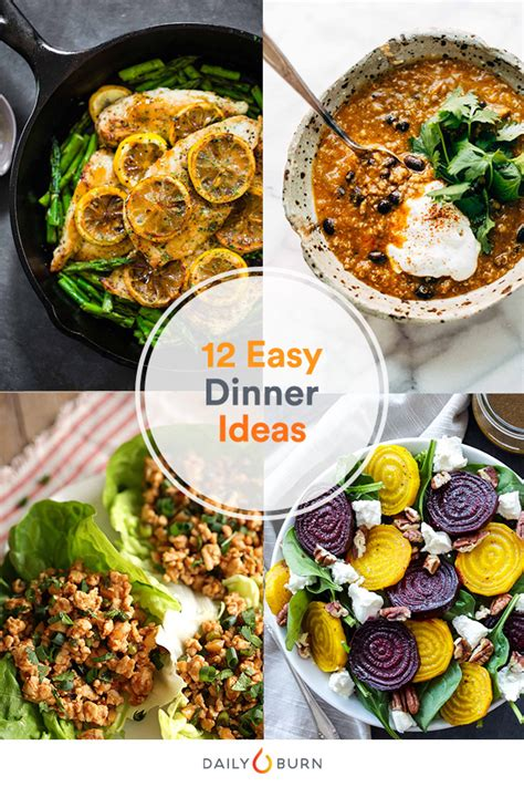 easy meal ideas 12 easy dinner ideas ready in 30 minutes or less