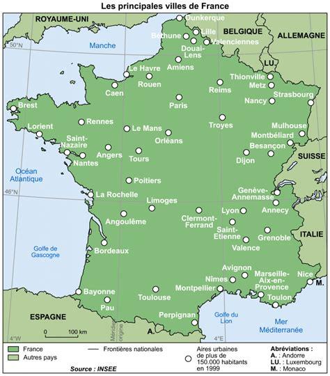 Carte De Avec Villes Principales by Principales Villes De 187 Vacances Arts Guides Voyages