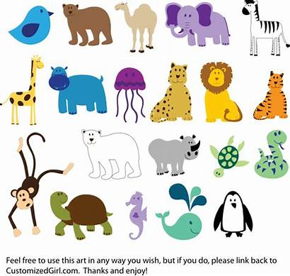 Animals Clip Domain Vector Clipart Clker