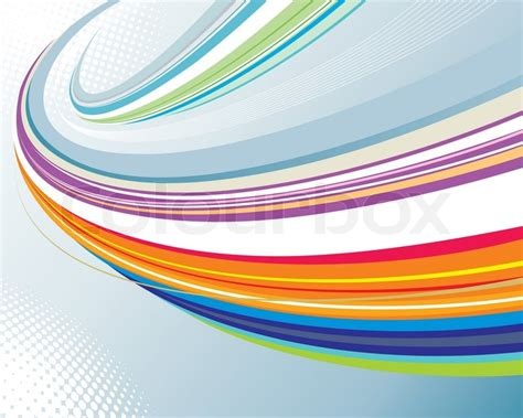 Abstract Shapes Curve by Abstract Curve Of Technology Background Stock Vector