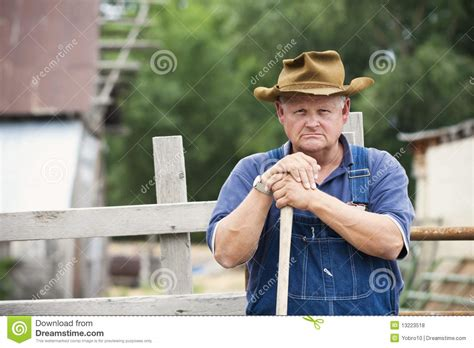Frustrated Old Farmer Portrait Stock Photo - Image: 13223518