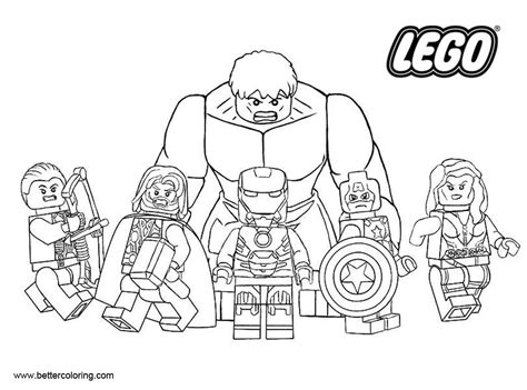 lego marvel superhero coloring pages free printable
