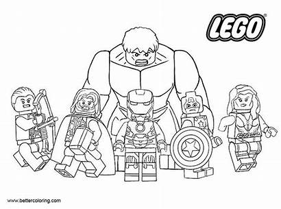 Lego Coloring Marvel Superhero Pages Hero Printable