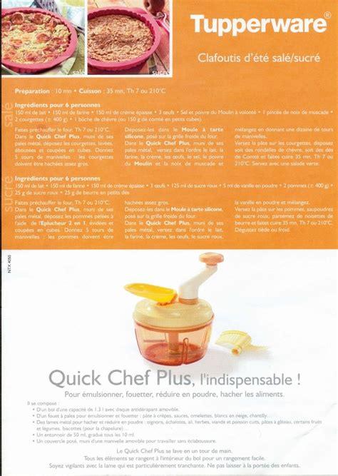 recette de cuisine tupperware recette avec le chef de tupperware