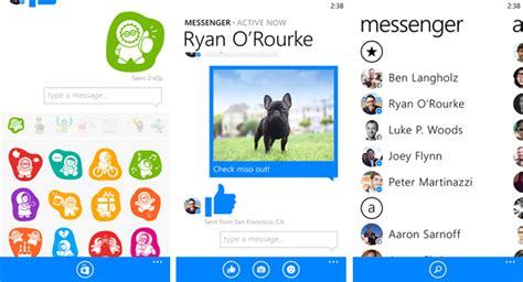 messenger for windows phone 8 arrives missing voice feature winsource