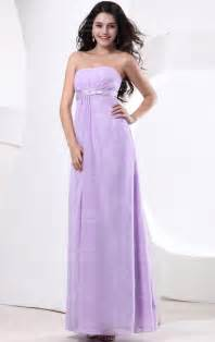 lavender bridesmaid dresses cheap lilac a line strapless waist chiffon floor length bridesmaid dress